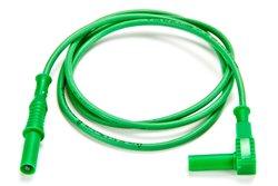 Cal Test Electronics Straight Plug to Right Angle Plug Test Lead - Green