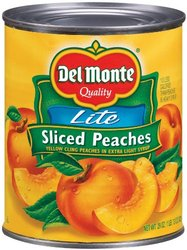 Del Monte Lite Peaches Sliced  29 oz can