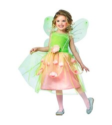 Rubie's Girls' Deluxe Pedal Fairy Costume - Multi - Size: 3-8 Years