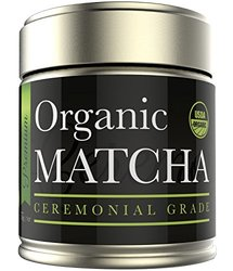 Matcha Green Tea Powder - Organic Ceremonial Grade - Japanese (1oz)