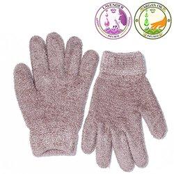 Moisturizing Gel Gloves-Vitamin Infused- Tan-OSFM