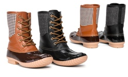 Sociology Cold Weather Print Duck Boot Molly - Chocolate/9