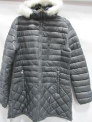 Women's Puffer Jacket W/ Detachable Fur Hood: Black/3xl