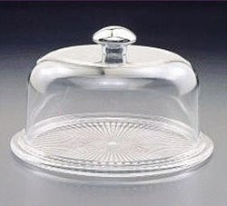 Acrylichomedesign Cheese Tray with Dome - Clear