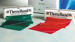 Theraband Medium Exercise Bands red