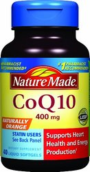 Nature Made Coq10 Supplement, 400 mg, Naturally Orange, 40 Count
