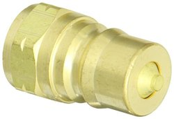 "EH 1/2""-14 BSPP F Brass ISO-B Interchange Hydraulic Fitting Plug w/ Valve"