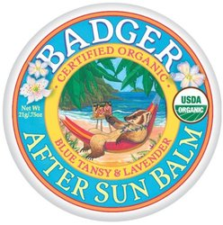 Badger After Sun Certified Organic Blue Tansy & Lavender Balm - 0.75 oz