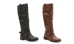 Xoxo Knee High Maeko Boots: Brown/8.5