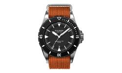 Filson Men's Watches - Dutch Harbor F0120001754 - Orange Band-black Dial