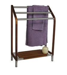 Sula Teak And Stainless Steel Towel Stand