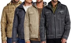 Xray Hooded Jacket: Padded Hoodie Jacket-grey/medium