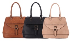 Mkf Collection Whip Stitched Mama Tote: Apricot