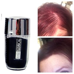 HAIR ILLUSION - 100% Natural Human Hair Fibers *Not Synthetic* For Men & Women, Premium Hair Building Formulation, Auburn 18g