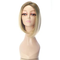 "Rabbitgoo 15.7"" Roots Heat Cosplay Party Hair Blonde Wig - Light Gold"