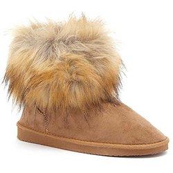 Serene Jenna Fur Boots: Chestnut/8