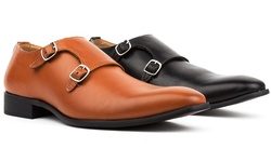 Royal Men's Monk Strap Shoes: Light Brown - 9.5