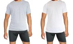 Slim Solid & Printed Long Sleeve Shirts: Mls-306 White/royal - Medium