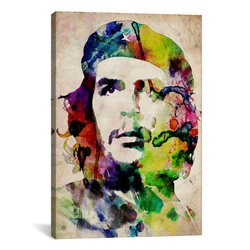 "iCanvasART Che Guevara Watercolor by Michael Canvas Art Print - 40"" x 26"""