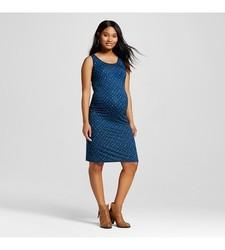 Liz Lange Women's Maternity Diamond Print Tank Dress - Dark Blue - Size: M