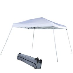 Abba Patio Pop Up Folding Canopy with Roller Bag - White - Size: 9 x 9 FT