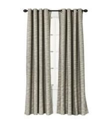 "Threshold Stripe Light Blocking Curtain Panel - Tan - Size: 54"" x 95"""