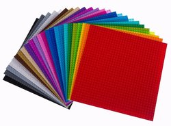 """Strictly Briks Rainbow Lego Compatible Plates 24 Pack - Size: 10"""" X 10"""""""
