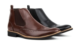 Royal Men's Brogue Wing-tip Boots: Coffee/10.5