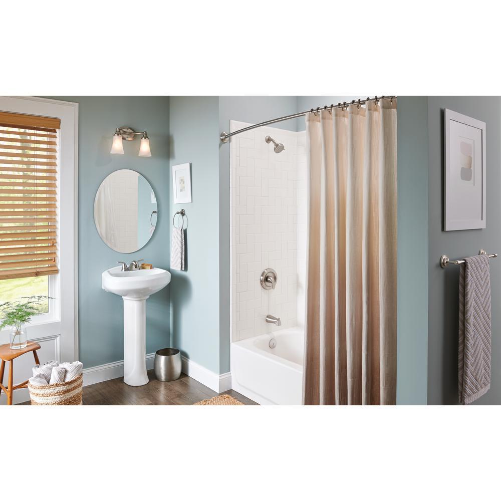 Moen Adler 4  Centerset 2 Handle Low Arc Bathroom Faucet   Brushed Nickel. Moen Adler 4  Centerset 2 Handle Low Arc Bathroom Faucet   Brushed