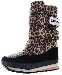 Moda Essentials Iggy Women's Nylon Snow Boots: Leopard/9