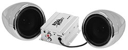 Chrome 600 watt Motorcycle / ATV Sound System with Bluetoothn (MC420B)