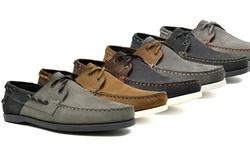 Hawke & Co. Men's Boat Shoes Legend: Navy-brown/11