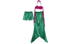 Fin Fun Kids Mermaid Tail Swimsuit Set 3PC - Green - Size: X-Large