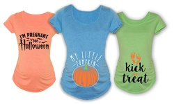 Maternity Halloween Tees: No Trick Just Sweetest Treat Belly/small