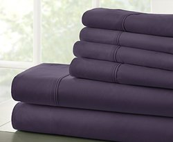 ienjoy Home 6pc Ultra-Soft Microfiber Bed Sheet Set - Purple - Size: King
