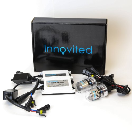 H7-8000K 2 Year Warranty Ice Blue Innovited DC 35W Xenon HID Lights KitAll Bulb Sizes and Colors with Premium Slim Ballast