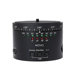 Movo Photo MTP-10 Motorized Panaromic Time Lapse Tripod Head with Variable Speed, Time & Direction with Built-in Rechargeable Battery