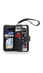Smartphone Wallet With Removable Case for Iphone 6/6s - black