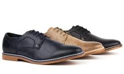 Tony's Men's Casual Plain-Toe Derby Shoes - Black - Size: 10.5