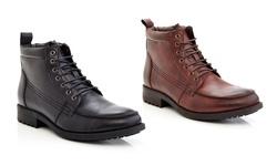 Marco Vitale Men's Lace Up Ankle Boot: Black/13