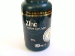 Pharmassure Zinc 50mg./100 Count