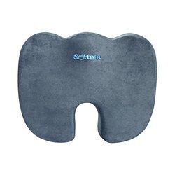 Softnia Coccyx Orthopedic High Density Memory Foam Seat Cushion - Gray
