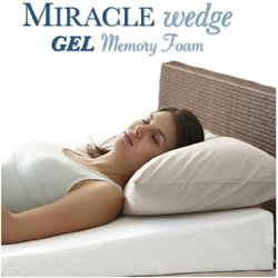 Gel Memory Foam Wedge Pillow for Acid Reflux (MWV-2)