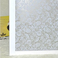 (0.6M X 3M) DuoFire Repositionable Decorative Non-adhesive Privacy Glass Window Film DP010W