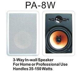 Premier Acoustic PA-8W Speakers - Pair - White