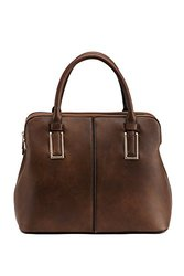 Satchel Handbag By Mia K. Farrow: Melaine/coffee