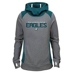 Girl's NFL Philadelphia Eagles Hoodie - Light Charcoal - Size: L (14-16)