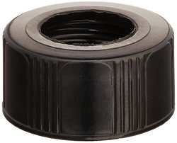Kimble Phenolic Open Top Screw Thread Cap without Liner - Black