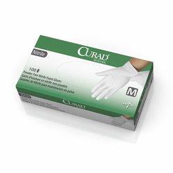 Medline Curad Nitrile Exam Gloves Latex Free 600 Pk - White - Size: Medium