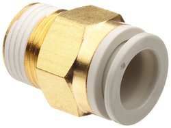 SMC Brass Push-to-Connect Tube Fitting with Sealant Adapter Male 10 Pks